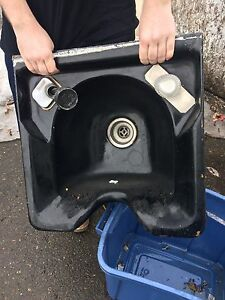 Salon cast iron wall sink