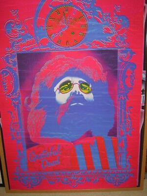 Grateful Dead Bickershaw  1972 Garcia Steve Hardstaff poster print 65cm x 100cm
