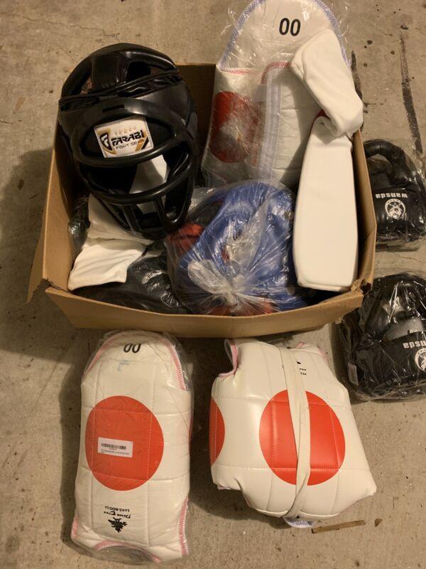 Huge Box of Lightly Used Taekwondo Sparring Equipment!