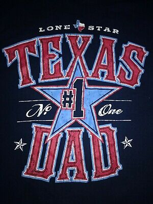 - Lone Star Texas #1 Dad T-shirt, size Large, Red white and blue