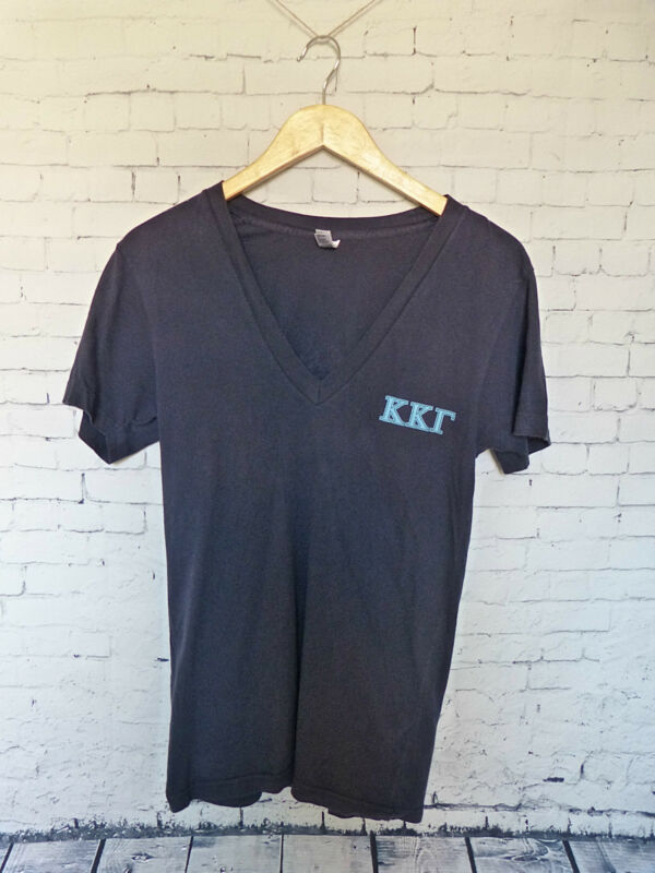 Kappa Kappa Gamma USD Sorority Recruitment 2013 Blue V Neck Shirt Size S