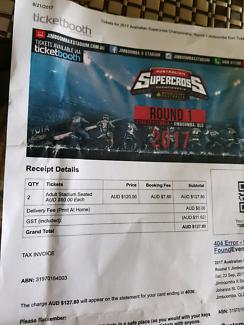 2 x Australian Supercross Round 1 tickets
