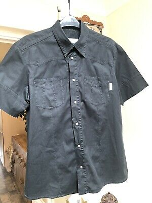 Mens Black VERSACE Shirt Size L