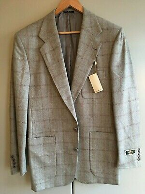 Joseph Abboud. Wool and silk mix jacket. Check. Single breasted. Size 38 long.