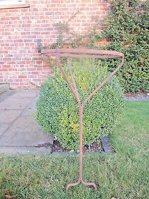Vintage Wrought Iron Plant Stand Potato Riddle Stand  (1040)