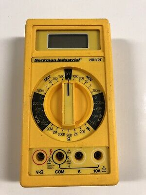 Beckman Industrial Digital Multimeter With Temperature Hd110t No Leads