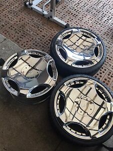 Selling 3x blvd alba wheels 5x114.3 Chester Hill Bankstown Area Preview