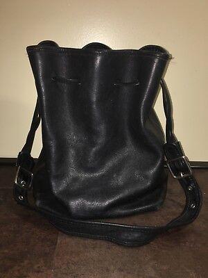 Drawstring Hobo Bag - Vtg COACH LEGACY Black Leather Drawstring Tote Hobo Bucket Purse Bag 9165 USA