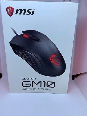 MSI Clutch GM10 Wired GAMING Mouse, LED Backlights, USB