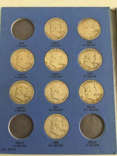 Franklin Half Dollar Set 25 Coins - $281.00