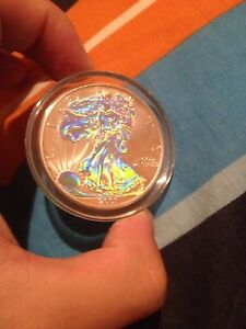 1 oz holographic American silver eagle Bassendean Bassendean Area Preview