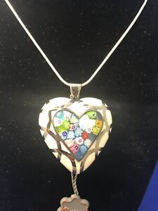 Large Murano Heart Necklace