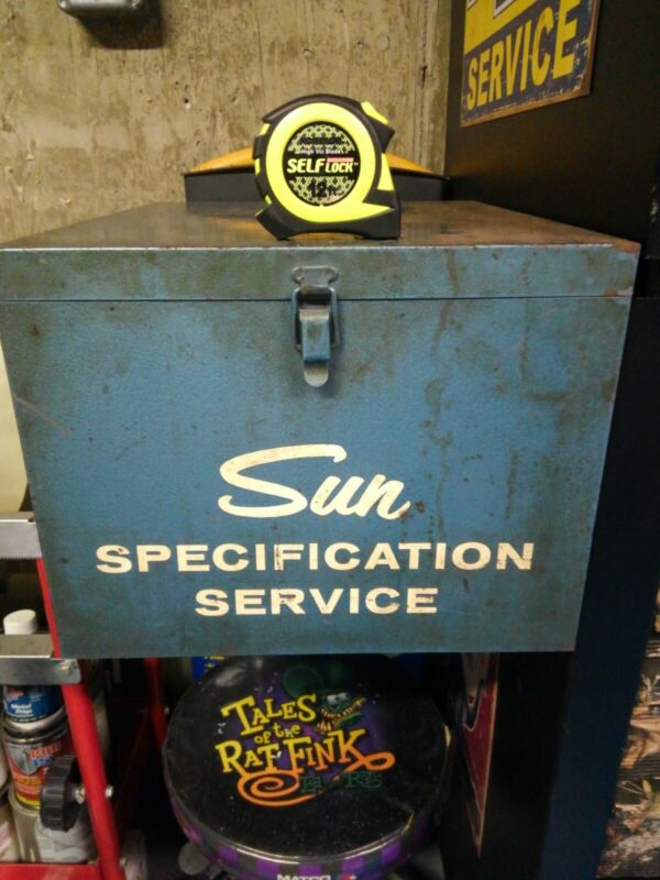 "Vintage Sun Service Equipment  Mechanic Side Cabinet 12.5""w by 9.75""h by 15""d"