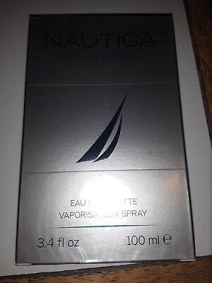 NAUTICA CLASSIC 3.3 oz / 3.4 oz Cologne for Men * New In Sealed Box *