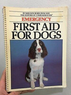 Emergency First Aid for Dogs Sheldon Rubin 1981 Beekman House Paperback