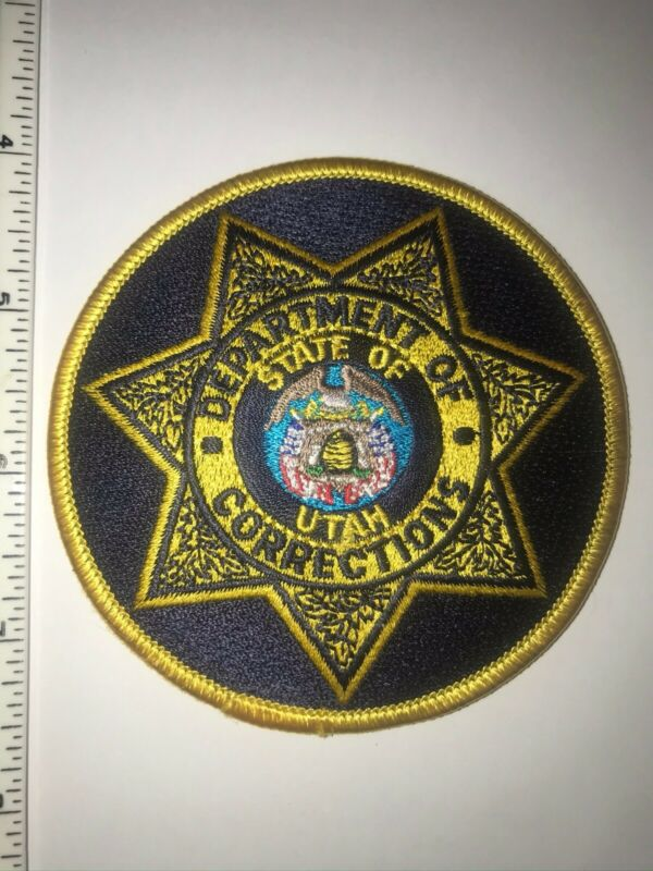 Utah Department Of Corrections Police Shoulder Patch New