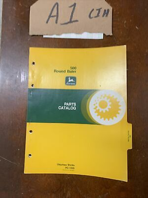 Oem John Deere 500 Round Baler Parts Catalog Pc-1529