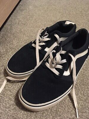 Suede Style Vans Trainers Shoes Fab Condition Nexr Working Day Post  S5 Junior