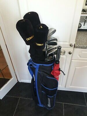 SET OF MENS GOLF CLUBS, JACK NICKLAUS EZ UP IRONS & VANTAGE WOODS, RIGHT HANDED