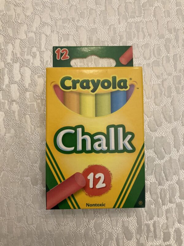 Crayola Colored Chalk - 12 Pack - Free & Fast Shipping - Non-toxic