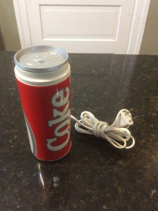 COKE COCA-COLA Can Electric Lamp, Used