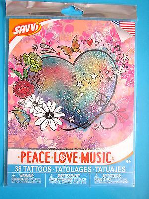 Tattoos Of Love (SAVVI Colorful Tattoos 38+ SUMMER OF LOVE 1960's PEACE LOVE MUSIC 2