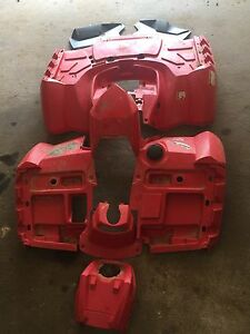 2011 Polaris Sportsman 850 Set Of Red Plastic Fenders Front And Rear