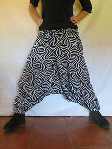 Sarouel spiral blanc vetements hippie baba cool ebay - Vetements hippie baba cool ...