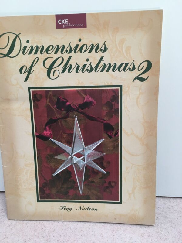 Dimensions of Christmas 2 Stained Glass Pattern Book, Nativity, cross, doves