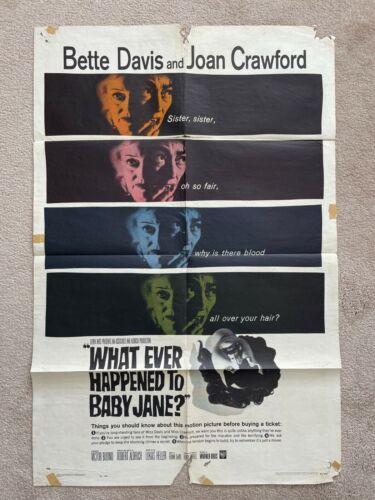 What Ever Happened to Baby Jane Original one-sheet Movie Poster Davis Crawford