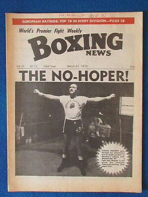 Boxing News Magazine   21 3 75   Chuck Wepner Cover