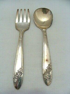 Oneida Community Tudor Plate Queen Bess Child's Fork & Spoon