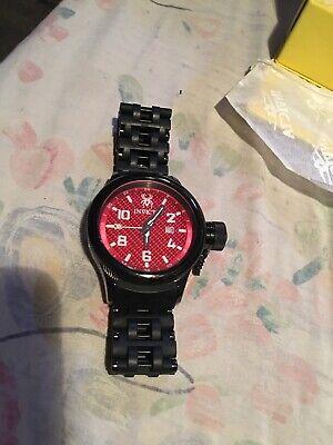 Invicta Russian Diver RS8 #0563  Red Carbin Fiber Watch