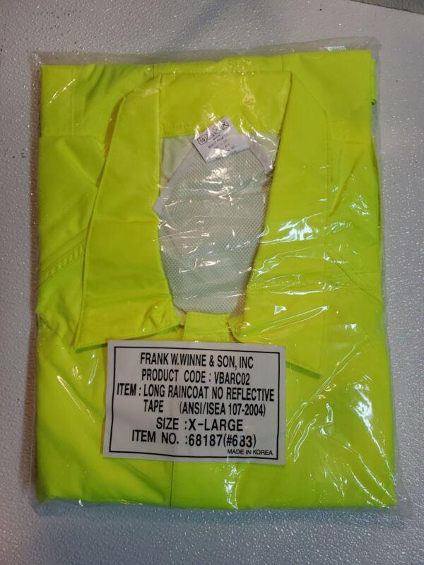 Yellow Raingear Long Rainjacket Raincoat safety Yellow New lightweight X-LARGE