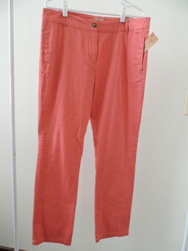 NWT $89 Womens Sz 12 * CREMIEUX * Light Weight Micah Pant Salmon Colored Pants