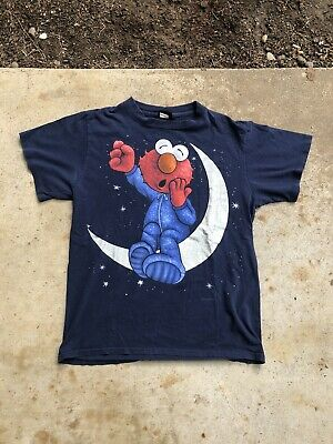 Sesame Street Shirts (Vintage 90s Elmo Changes Jim Henson Sesame Street USA T Shirt Size)