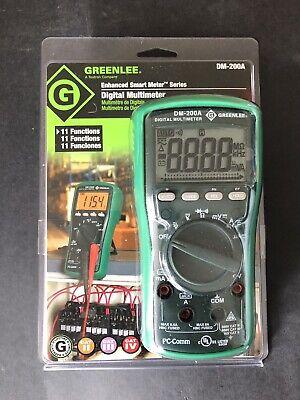 Greenlee Digital Multi Meter 1000v Acdc Dm-200a - New