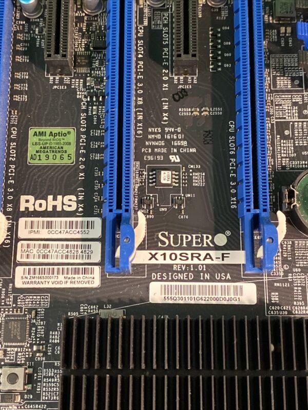 Supermicro X10SRA-F Motherboard LGA2011 v3 / v4 ATX w/I/O Shield