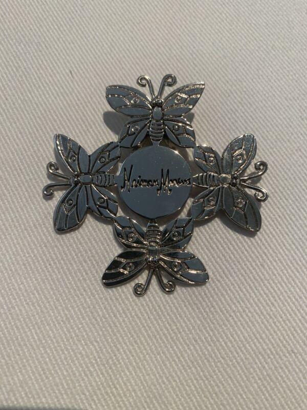 Emilia Castillo NEIMAN MARCUS Butterfly Brooch Hair Scarf Clip Ornament Silver