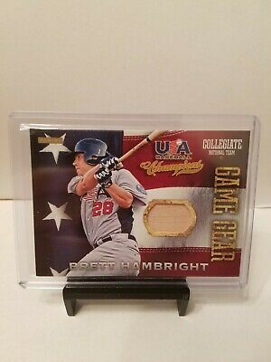 Brett Hambright 2013 USA Baseball Champions GAME GEAR BAT PIECE