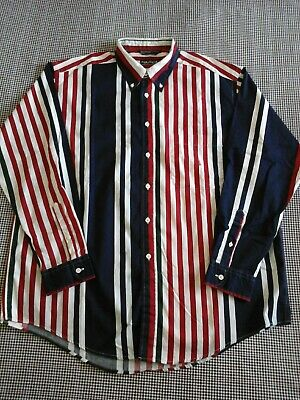"VINTAGE 90S NAUTICA STRIPED  SHIRT : SIZE  XL  P2P27""NS HIPSTER / PREP"