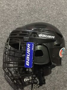 Bauer junior hockey helmet and skates