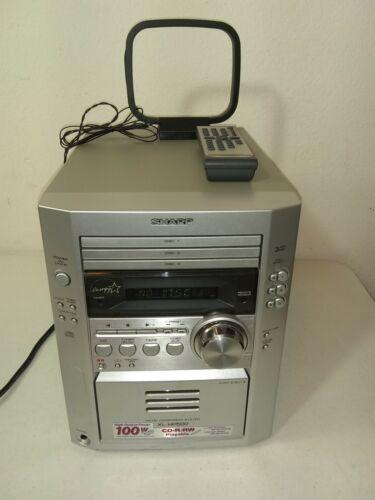 Sharp 3 Disc Changer AM FM Cassette CDs Micro Component System XL-HP500 Stereo