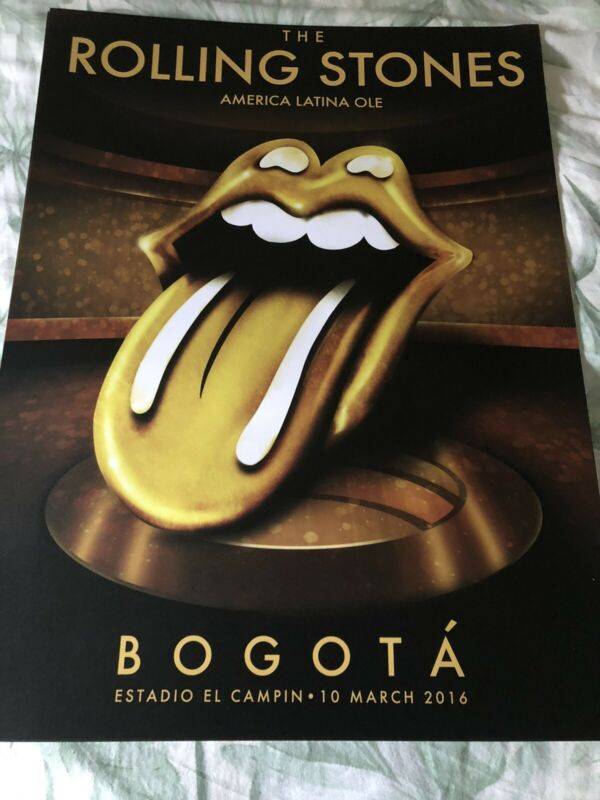 Rolling Stones Bogata Concert Poster 2016 American Latino Ole Tour Mick Jagger