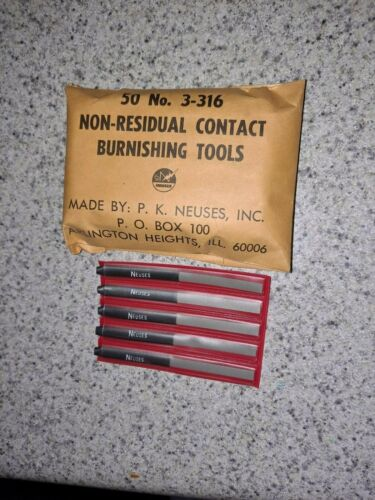 Pack of 50 Neuses non-residual contact burnishing tools No. 3-316