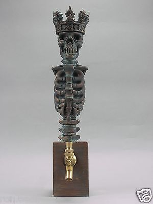 """KING"" WARRIOR SKULL BAR BEER TAP HANDLE DIRECT FROM RON LEE"