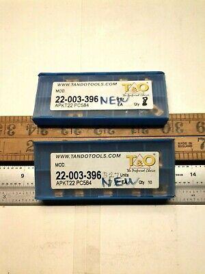 To Apkt22 Pc584 Carbide Insert - Tno-22-003-396 Qty 18