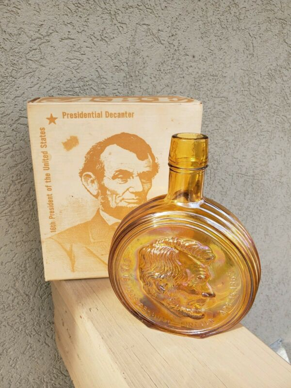 """Wheaton """"Abraham Lincoln"""" Decantor in Original Box!"""