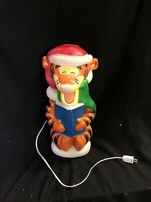 "Disney Santas Best 18"" Tigger Caroling Blow Mold Lighted Xmas Yard Decor w/ Cord"