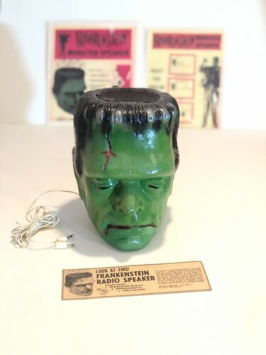 Vintage 1960s Frankenstein Monster Head Speaker !! RARE !!!!